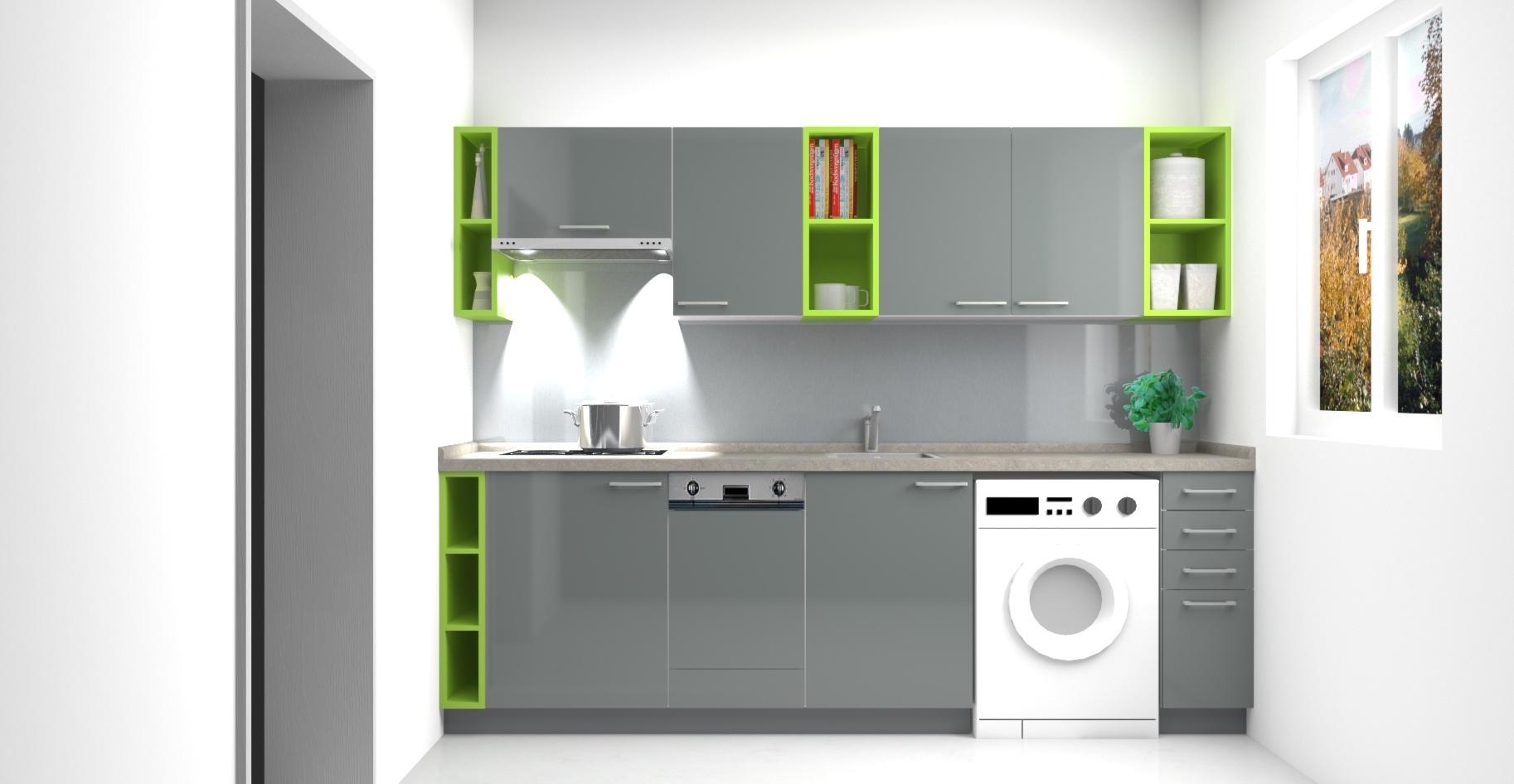 Kuchyňská sestava_3D vizualizace
